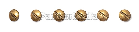 brass round head screw from different
