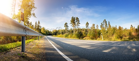 asphalt road panorama in countryside in