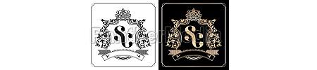 sc royal emblem with crown set