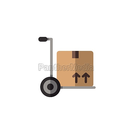 delivery handcart shipping cart with box