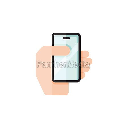 smartphone in a hand mobile payment