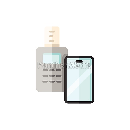 transaction with smartphone swiping terminal payment