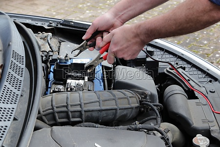 charging up a car battery