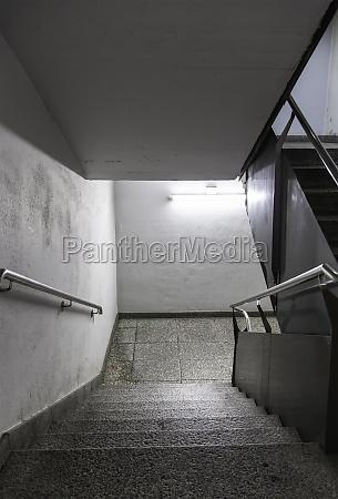 dark underground stairs
