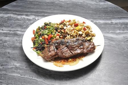 mediterranean beef kebab