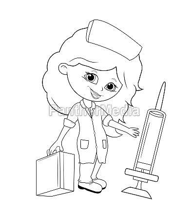 little girl doctor coloring
