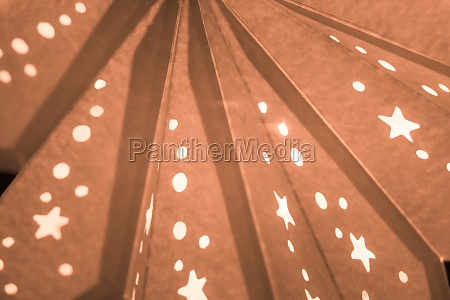 orange xmas lantern star pattern at