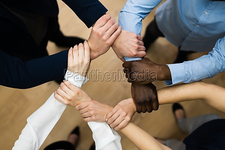 group of business people commitment