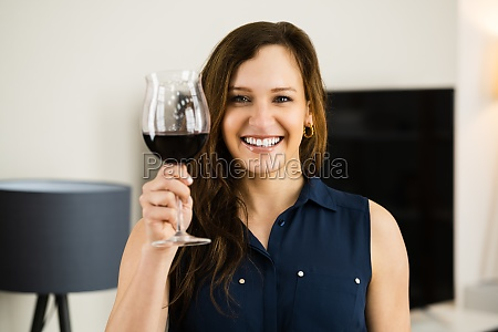 woman drinking wine alcohol