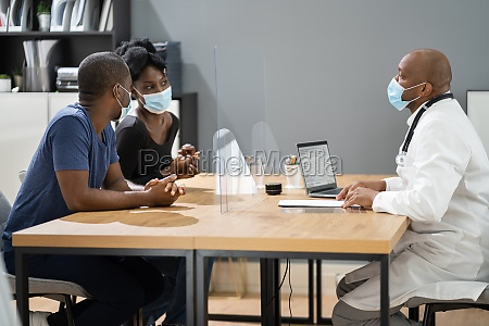 couple patient at doctor