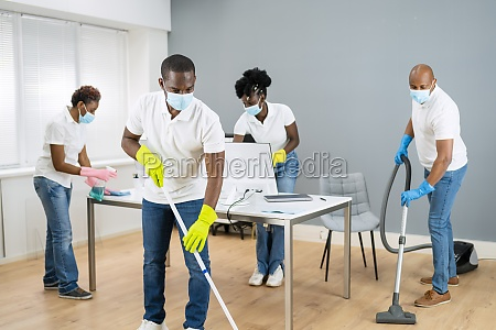 cleaning service african janitor