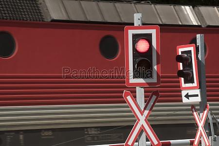 railroad crossing in train traffic