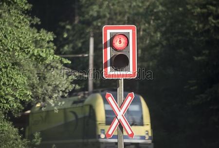railroad, crossing, in, train, traffic - 29732858