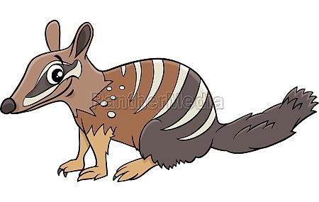 cartoon numbat comic animal character