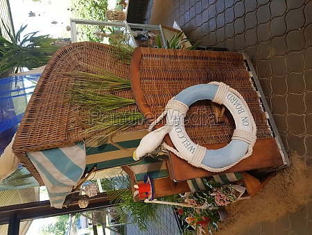 wicket beach chair with rescue ring