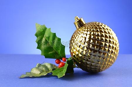 christmas golden bauble