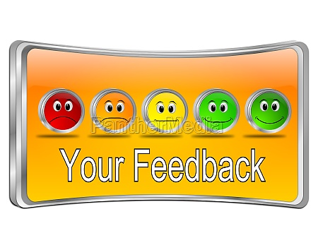 your feedback button orange 3d