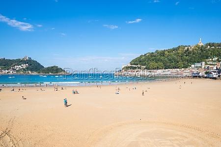 the beach of la concha one