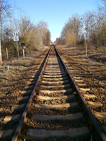 track bed with ballast and rails
