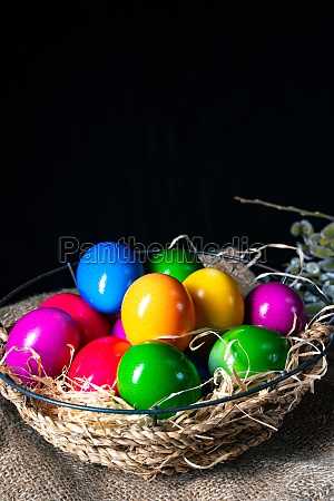 colorful easter eggs an atmospheric decoration