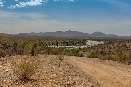 landscape view of the kunene river