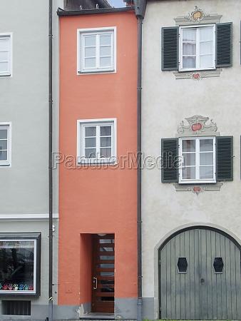 narrow facade in bavaria