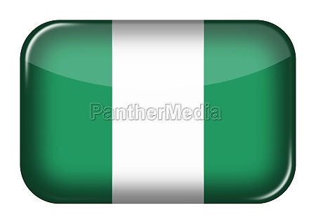 nigeria web icon rectangle button with