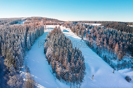 air view on the winter sports