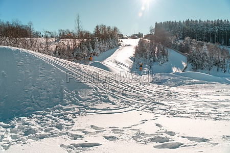 winter sports slopes at the ski