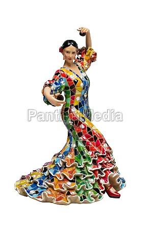 dancing woman statue