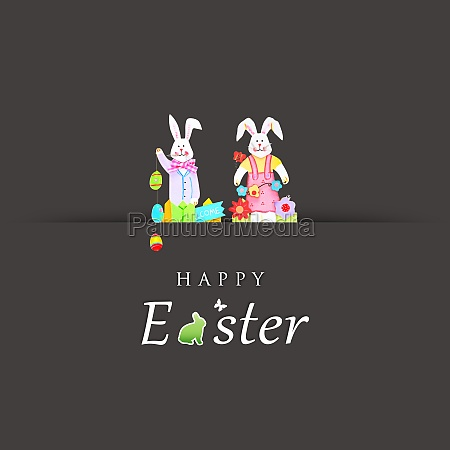 beautiful easter background with colorful easter