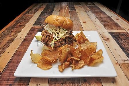 delicious bbq sandwich