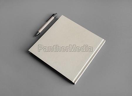 kraft brochure pen