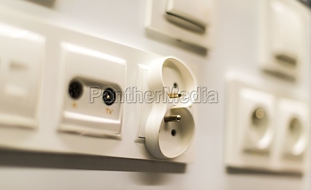 electric sockets and switches presented in