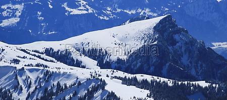 gonzen in winter view from chaserrugg