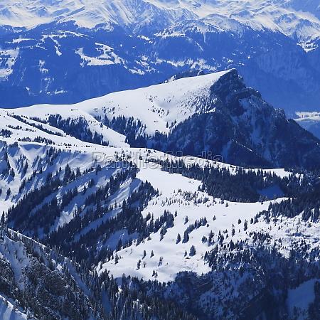mountain landscape seen from chaserrugg switzerland
