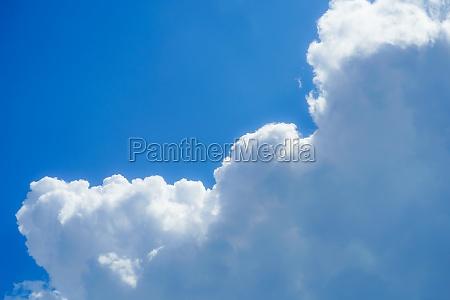 summer thunderhead and blue sky