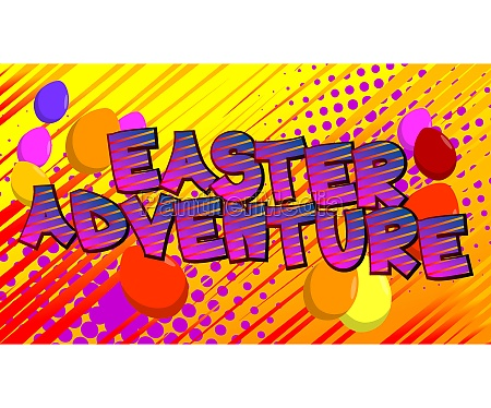 easter adventure comic book style