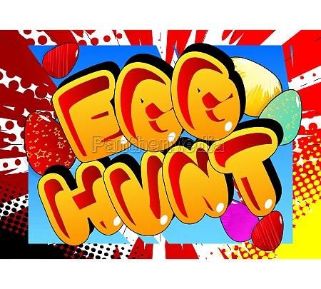 egg hunt comic book style