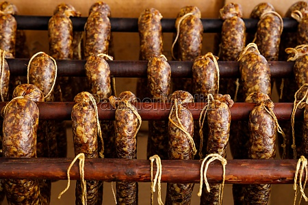 smoked sausage from hesse in germany