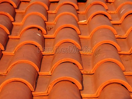 new tile brick roof in red