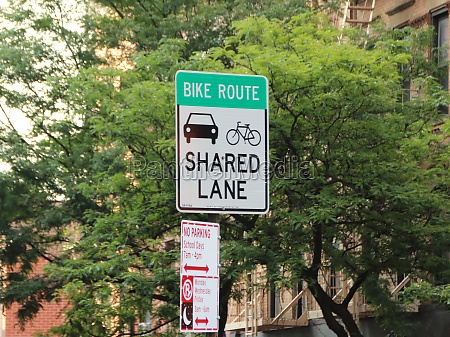 shared lane traffic sign in new