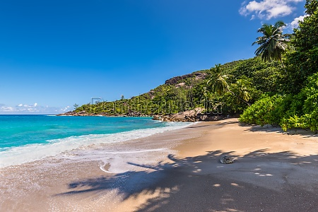 untouched tropical beach in seychelles