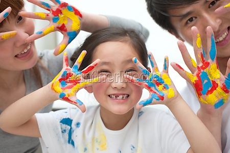 colorful graffiti hand