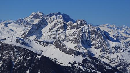 rugged mountains winter scene in glarus