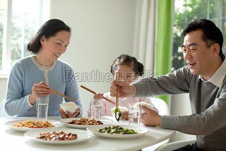 table chinese food oriental figures seniors