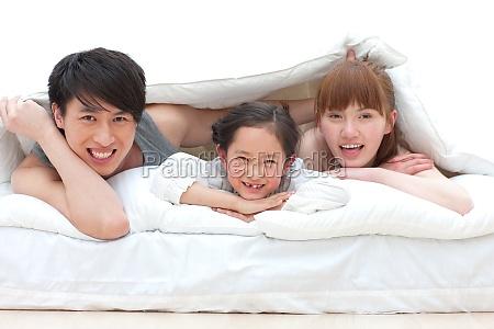 family of three happy life
