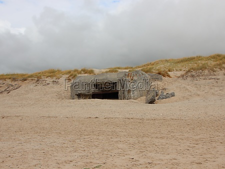 canon hole bunker at coast of