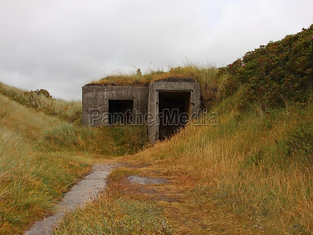 control post bunker at coast of