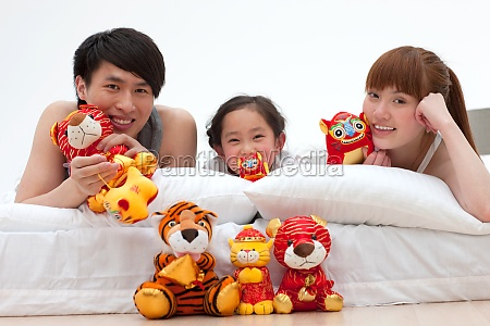 cloth toys mother pillow father and
